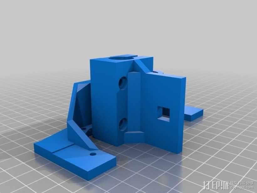 Printrbot 打印机的X轴部件 3D模型  图4