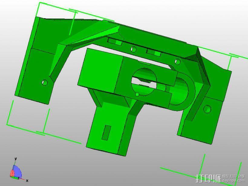 Printrbot 打印机的X轴部件 3D模型  图7