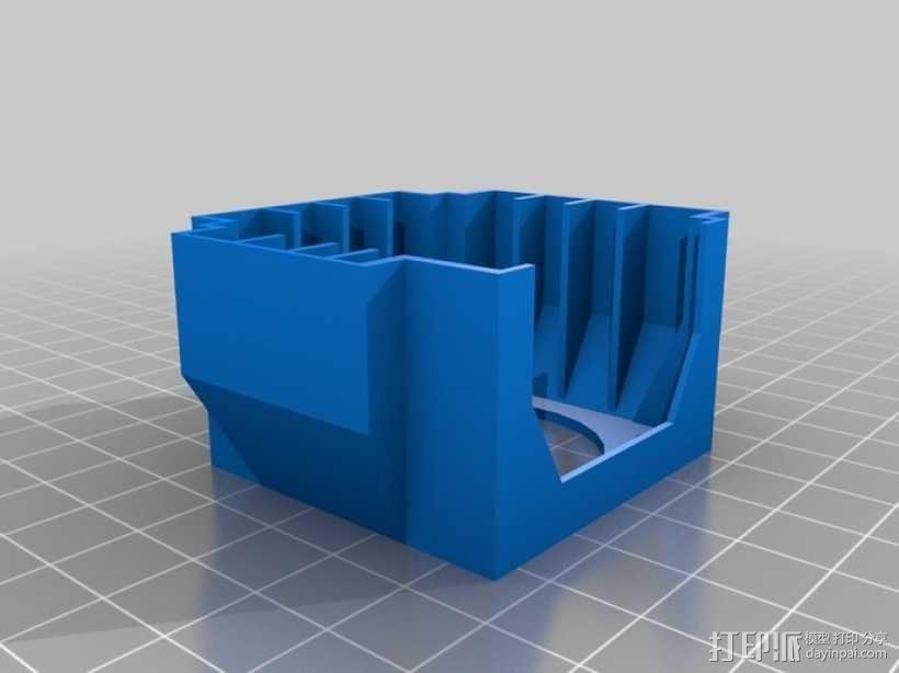 马达风扇支架 3D模型  图1
