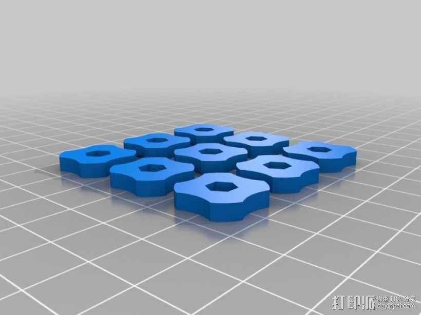 调平器小轮子 3D模型  图1