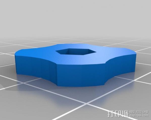 调平器小轮子 3D模型  图3