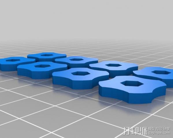 调平器小轮子 3D模型  图2