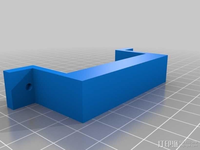 双喷头固定器 3D模型  图1