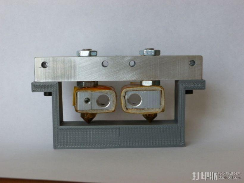 双喷头固定器 3D模型  图2