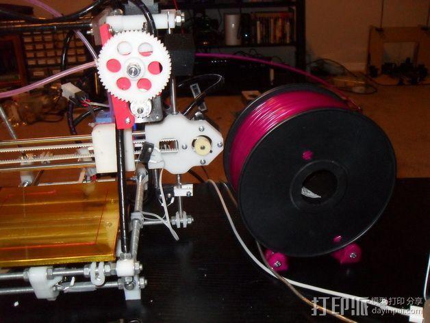 线轴支架 3D模型  图5