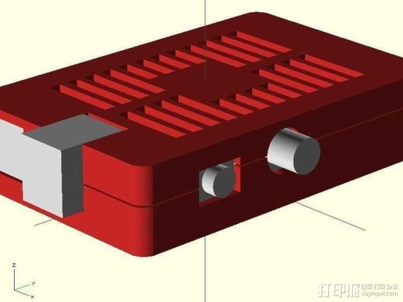 树莓派电路板保护外壳 3D模型  图3