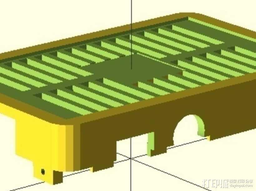树莓派电路板保护外壳 3D模型  图2