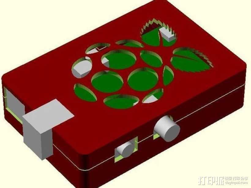 树莓派电路板保护外壳 3D模型  图6