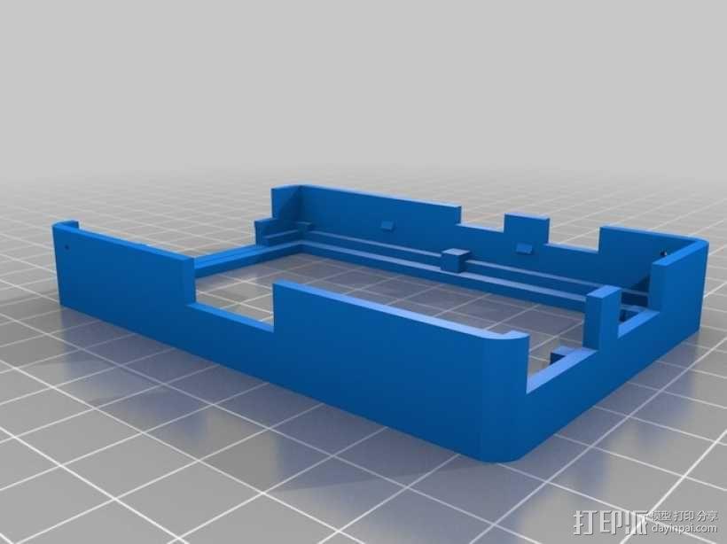 树莓派电路板保护外壳 3D模型  图9