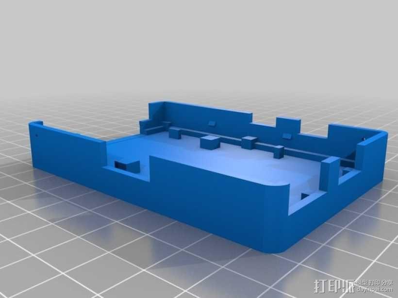 树莓派电路板保护外壳 3D模型  图8
