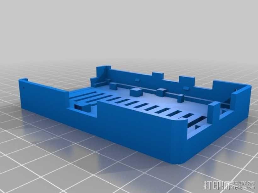 树莓派电路板保护外壳 3D模型  图10