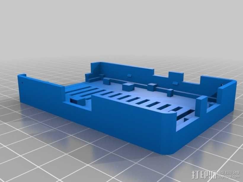 树莓派电路板保护外壳 3D模型  图11