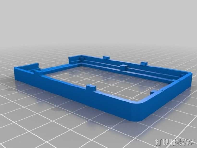 树莓派电路板保护外壳 3D模型  图13