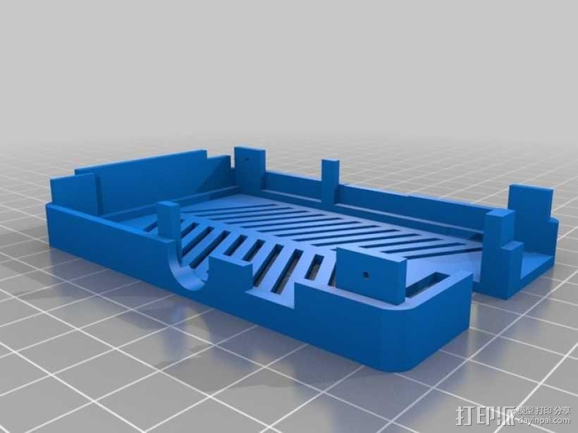 树莓派电路板保护外壳 3D模型  图14