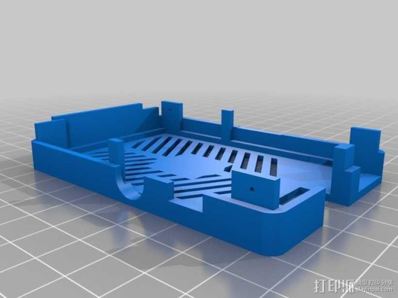 树莓派电路板保护外壳 3D模型  图16