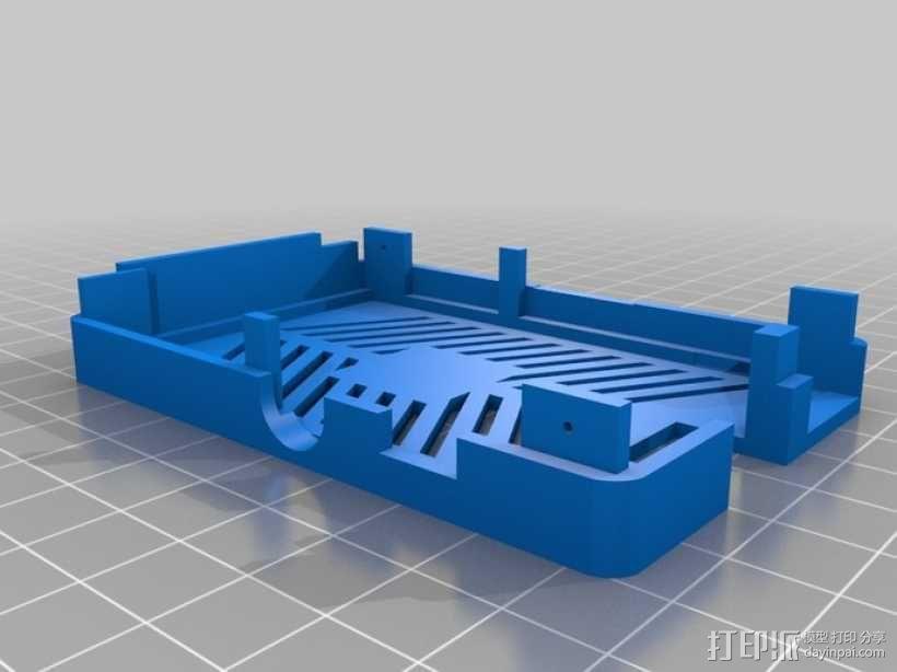 树莓派电路板保护外壳 3D模型  图18