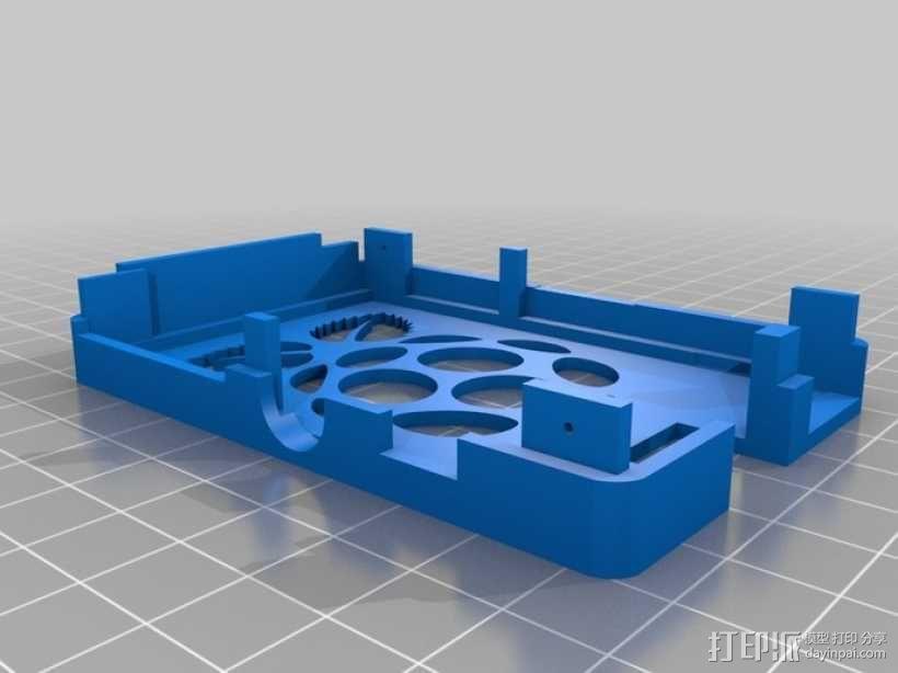 树莓派电路板保护外壳 3D模型  图23