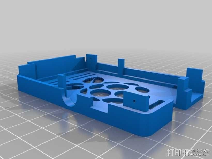 树莓派电路板保护外壳 3D模型  图22
