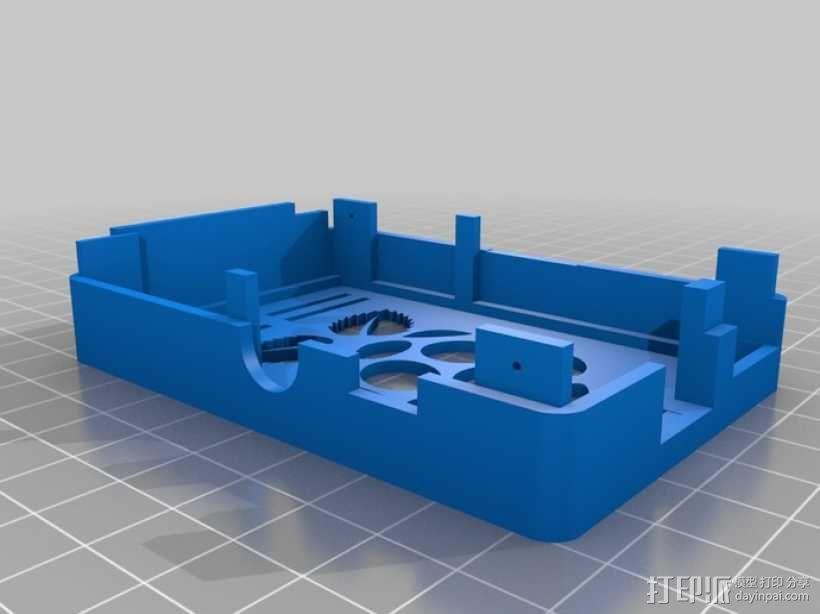 树莓派电路板保护外壳 3D模型  图25