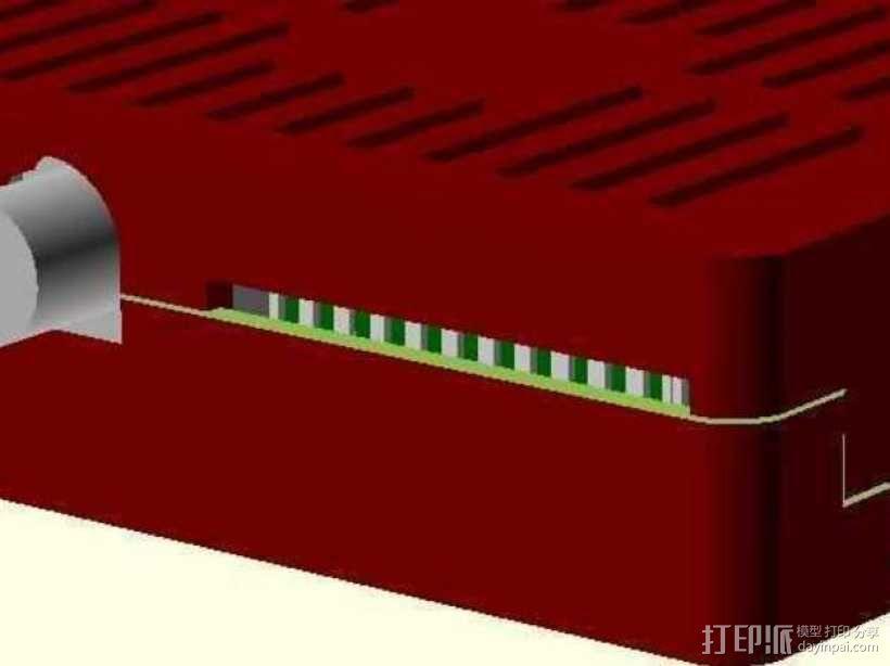 树莓派电路板保护外壳 3D模型  图26
