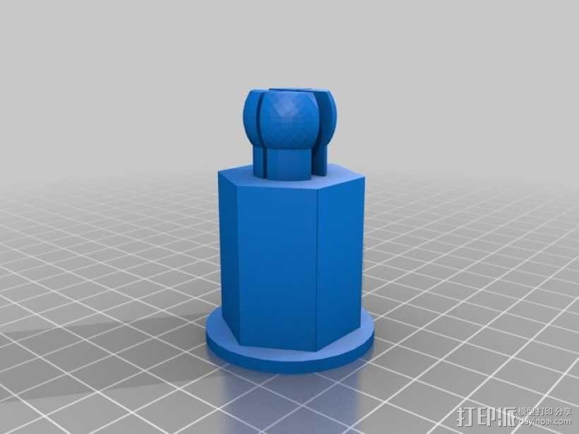 线轴轴栓 3D模型  图1