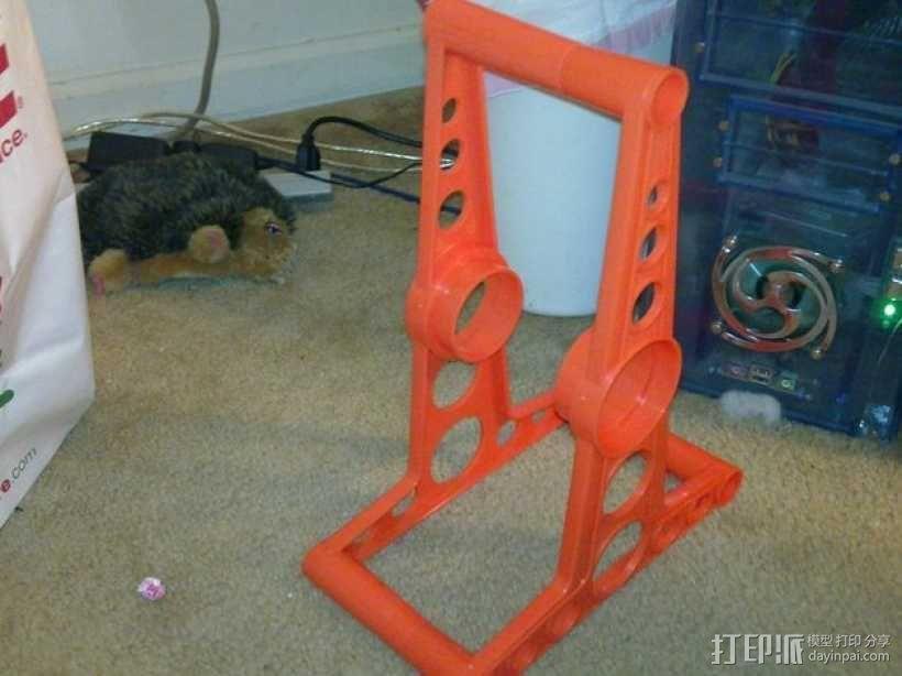 线轴轴栓 3D模型  图2