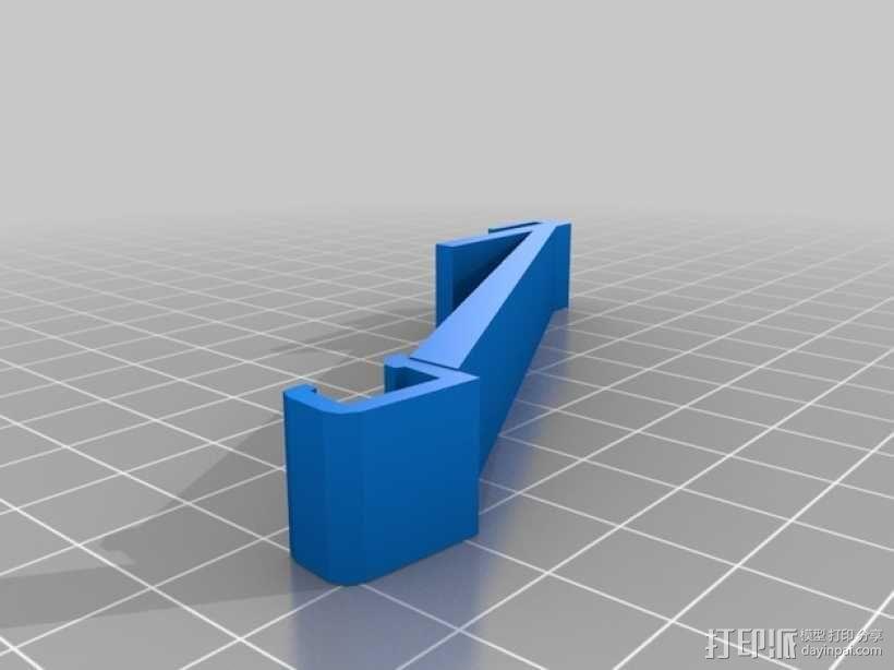 打印机喷头LED灯支架 3D模型  图1