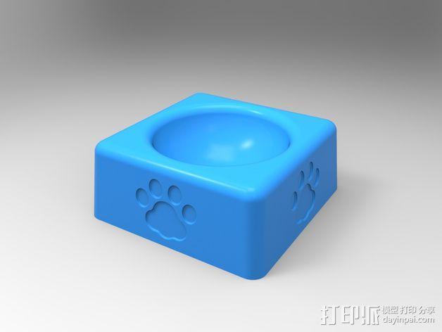 猫粮碗  3D模型  图1