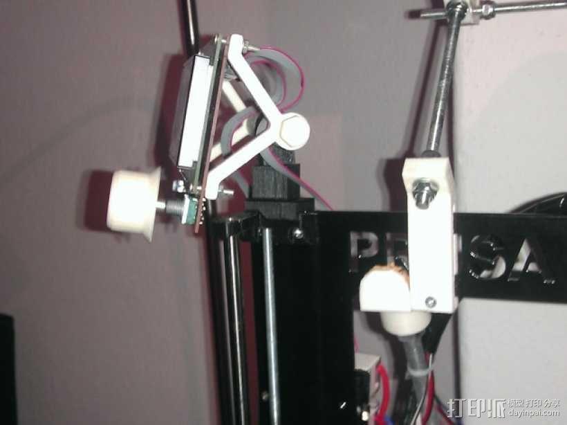 控制器显示屏支架 3D模型  图1