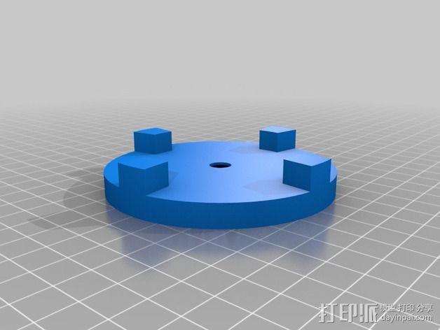 线轴齿轮 3D模型  图2