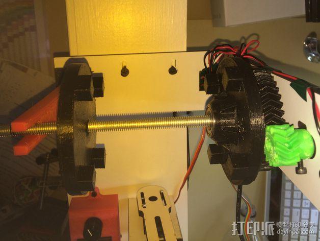 线轴齿轮 3D模型  图1