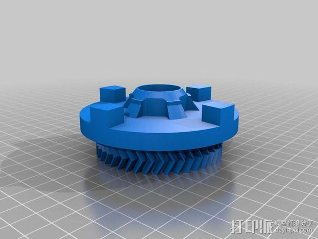 线轴齿轮 3D模型  图3