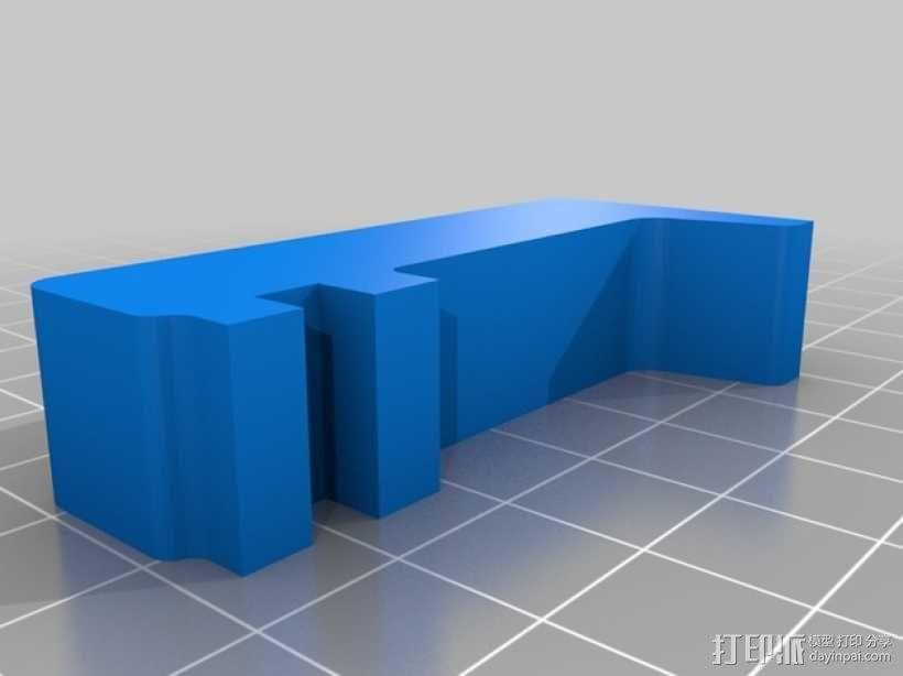 打印机门框支架 3D模型  图1