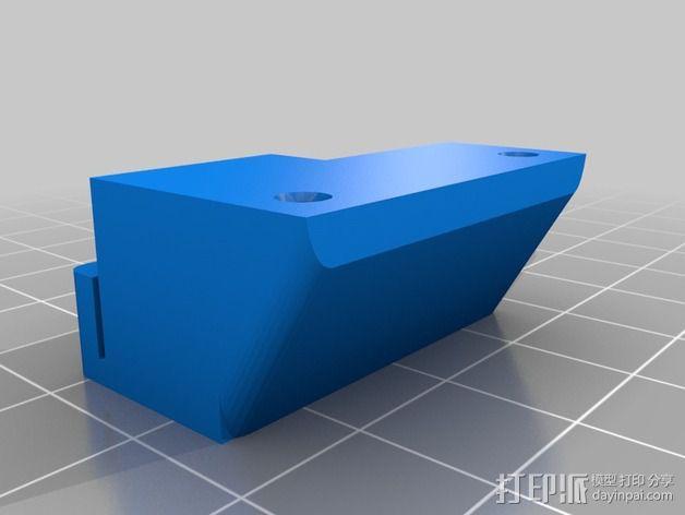 RigidBot 打印机的皮带夹 3D模型  图1
