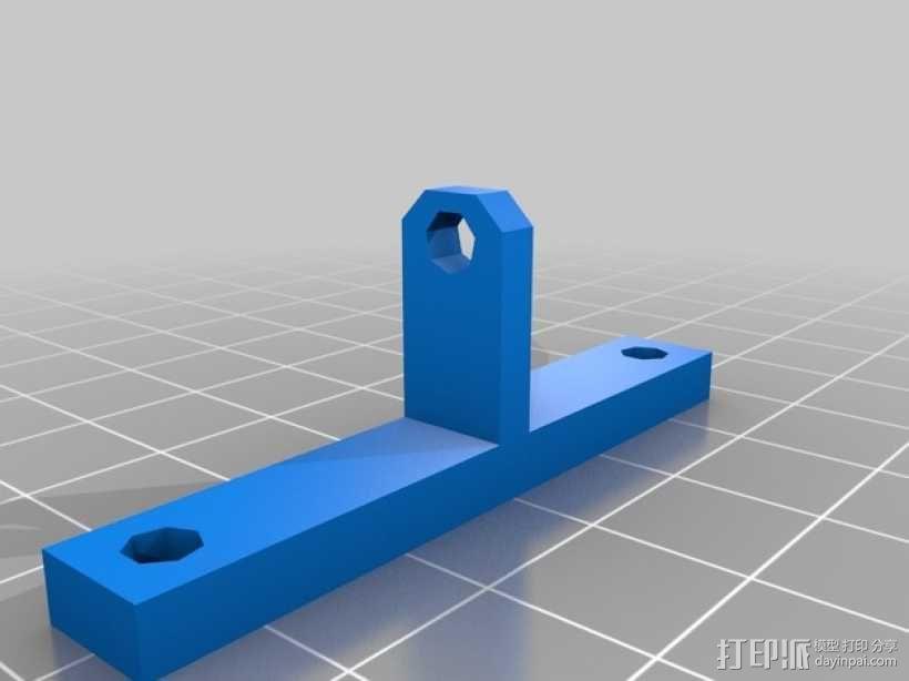 风扇通风导管支架 3D模型  图2