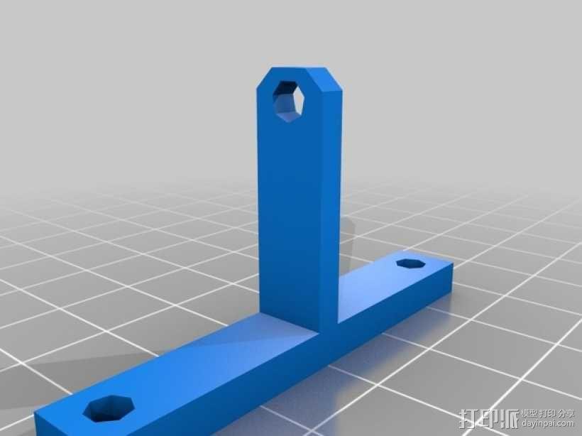风扇通风导管支架 3D模型  图3