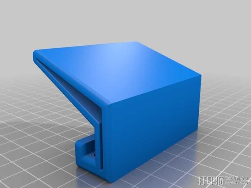 粉红色的手机支架 3D模型  图1