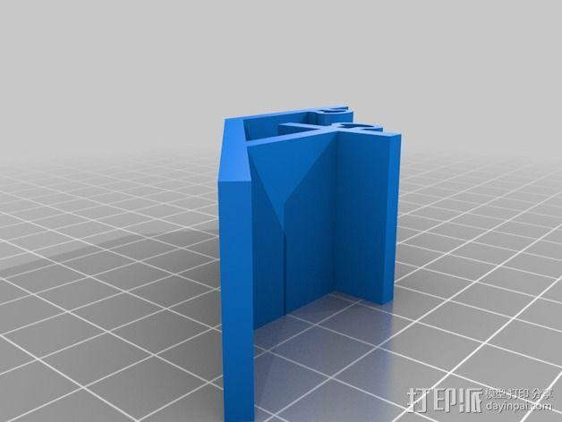 控制器LCD显示屏支架 3D模型  图2