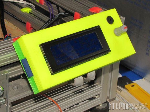 控制器LCD显示屏支架 3D模型  图3