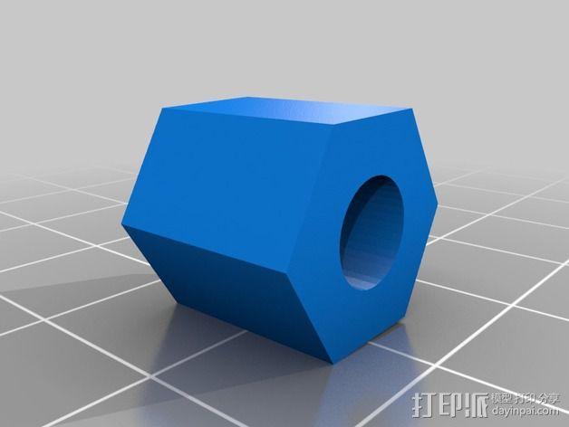 Z轴螺丝钉适配器 3D模型  图2