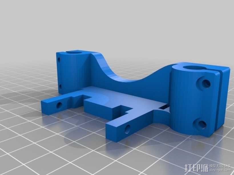 六边形喷头支架 3D模型  图2