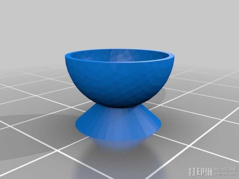 圆底杯垫 3D模型  图1