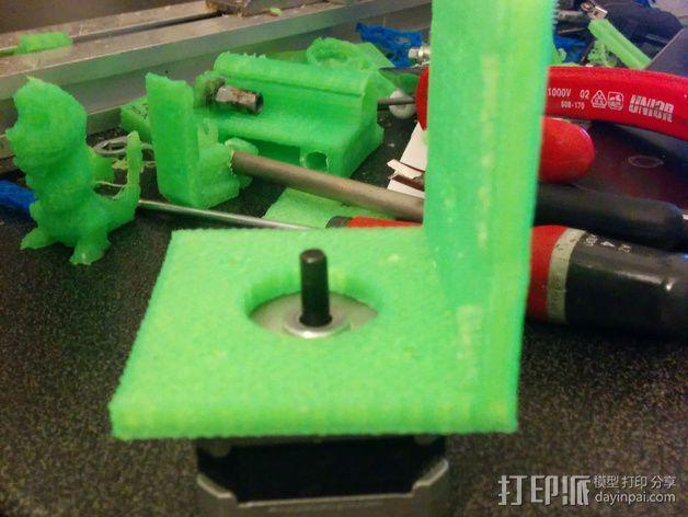 Nema 17步进电机支架 3D模型  图4