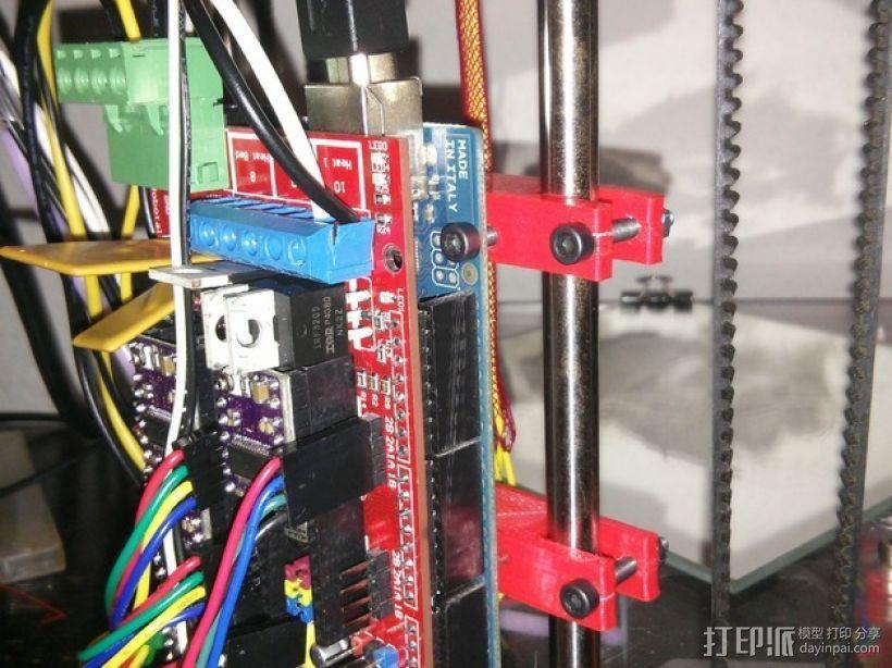 Ramps 1.4电路板支架 3D模型  图1