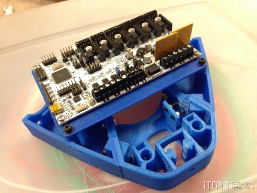 电路板支架 3D模型  图1
