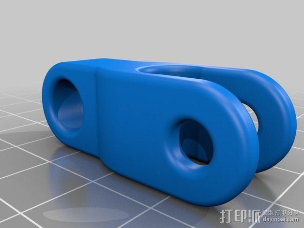 RepRapPro Mendel打印机的线轴支架 3D模型  图2