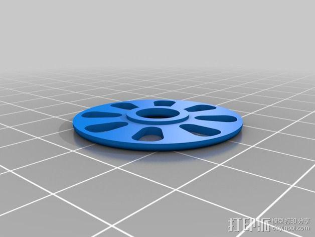 RepRapPro Mendel打印机的线轴支架 3D模型  图3