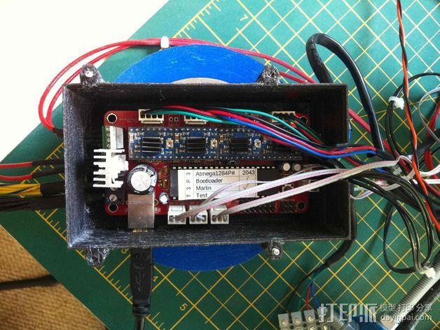 电路板保护罩 风扇 3D模型  图4