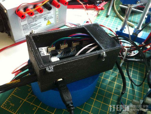 电路板保护罩 风扇 3D模型  图6