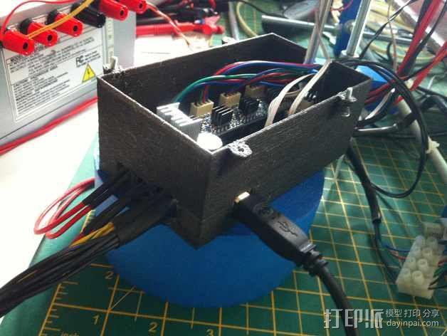 电路板保护罩 风扇 3D模型  图5